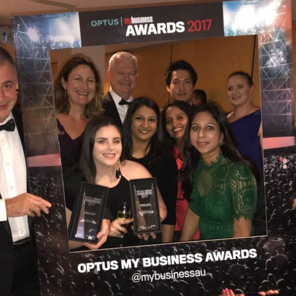 ATB Partners celebrate at The Optus My Business Awards